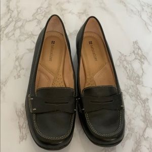 Classic Chic Slip On Leather Penny Loafer